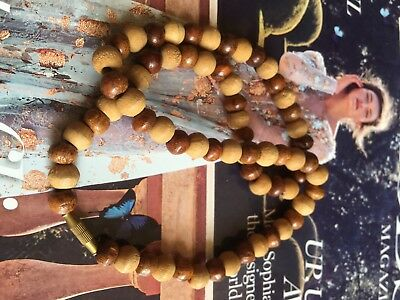 19thC Chinese Sandalwood Necklace