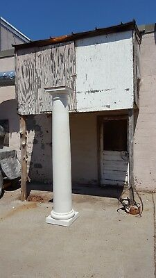 "Set of 4 Porch Columns Architectural Salvage 98""oal(ht.)14""dia.  11 5/8"" shaft"
