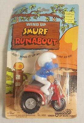 Vintage SMURFS Runabout From 1982 (MINT ON THE CARD)