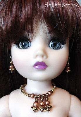 """OOAK DOLL JEWELRY for 21"""" CISSY and similar sized dolls METALLIC - NO DOLL"""