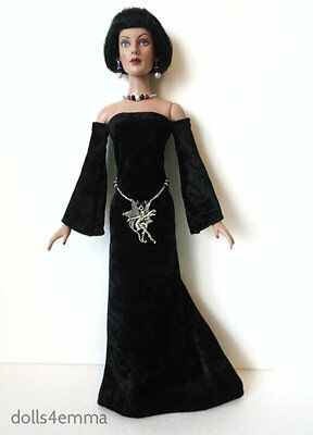 TYLER DOLL CLOTHES Goth Medieval GOWN + Fairy BELT & JEWELRY Fashion NO DOLL d4e
