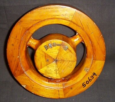 Vintage Wood Pulley Mold  D58-2  Good Cond...