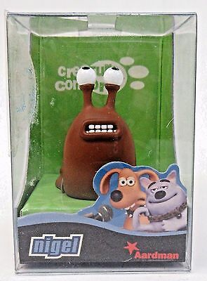 NIGEL THE SLUG Aardman Creature Comforts resin cast animation figure MINT in box