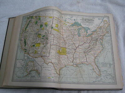 1903 Century Atlas Of The World.. 118 Color Maps