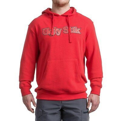 Shakespeare Ugly Stik Logo Fishing Hoodie Hooded Sweatshirt - Color Red - NEW!