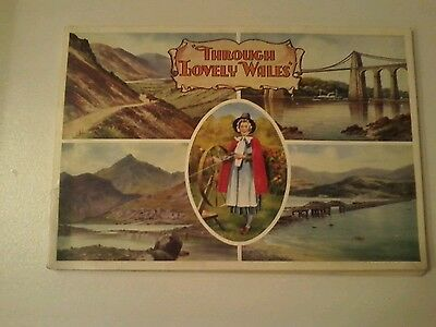Through Lovely Wales 1920s Pictorial Booklet