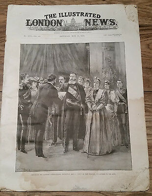 The Illustrated London News May, 12th 1894: Opening Of The Antwerp Exhibition