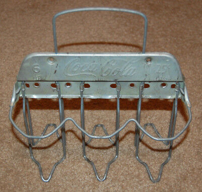 Vintage Coca Cola Metal Carrier six pack with handle Bristol Conn.