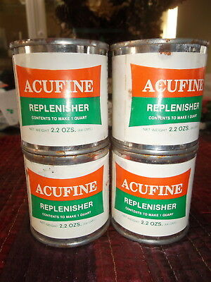 ACUFINE Replenisher - 2.2 oz can - Makes 1 Quart - Never Opened - lot of 4