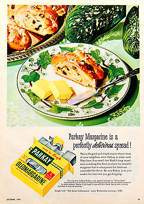 Vintage 1951 Parkay margarine retro advertisement print ad art