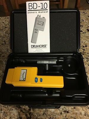Delmhorst BD-10 Moisture Meter in Carrying Case - 6 extra probes