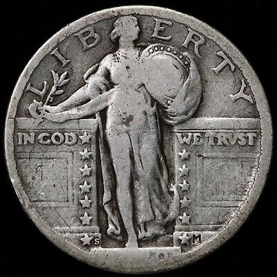 1920-S Standing Liberty Quarter    S040917