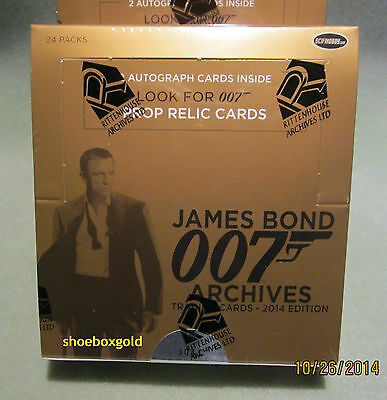 JAMES BOND 007 ARCHIVES, Factory Sealed Trading Card BOX