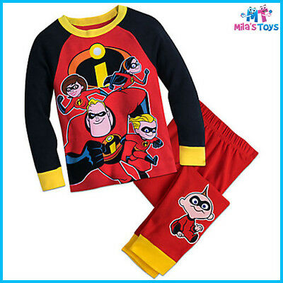 Disney The Incredibles PJ PALS Pyjamas for Kids sizes 4-8 brand new