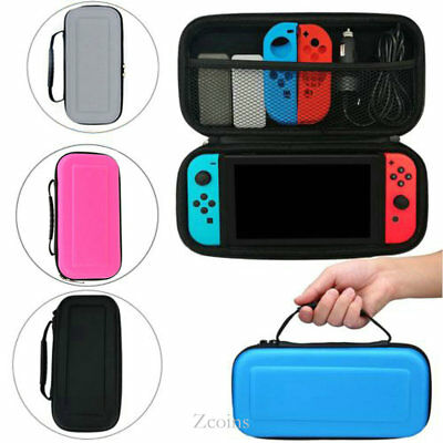 EVA Hard Carrying Case Bag &Tempered Glass Film Protector for Nintendo Switch