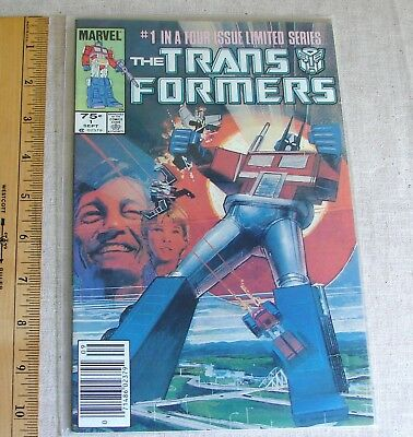 TRANSFORMERS #1, Marvel Comic Book, 1984