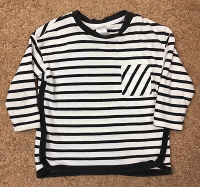 H&M Long Sleeved Striped Shirt Toddler Boys Size 12-18M