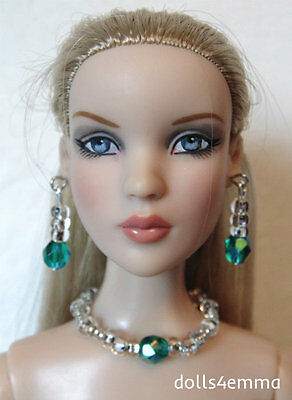 """JEWELRY SET for 16"""" Tonner CAMI & ANTOINETTE Dolls """"Dazzle"""" teal NO DOLL d4e"""