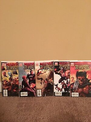 Marvel Zombies vs Army of Darkness 1 2 3 4 5 Complete Run Set