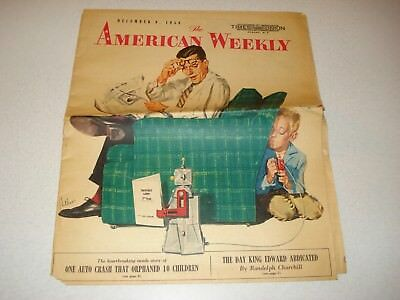 Robot The Robert American Weekly Magazine Cover - Humorous, 12/9/1956,l@@k
