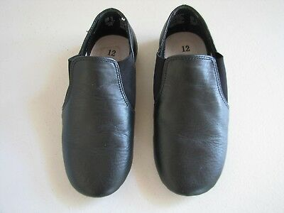 Child Girls/Boys Size 12 American Ballet Theatre Dance Shoes Black Leather NIB