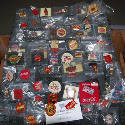 Coca Cola PINS LOT OF 60, Olympic, Monopoly, McDonalds, Derby and more