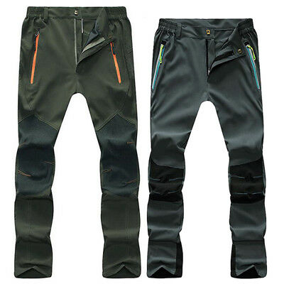 Outdoor Mens Soft shell Camping Tactical Cargo Pants Combat Hiking Trousers Hot