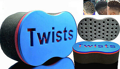 Double Barber Hair Twist Sponge Brush F/ Dreads Locking Coil Afro Curl Wave Tool
