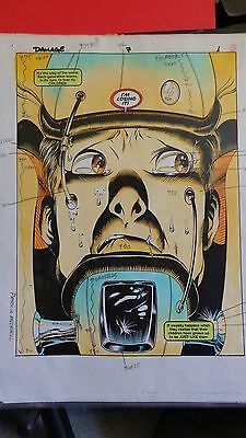 Damage #7 Complete 24 Page Story Original Painted Production Art Issue Pages-Dc
