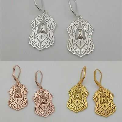 Newfoundland Charm Pendant Earrings - Canada Dog Breed Cute Trendy Gift Puppy