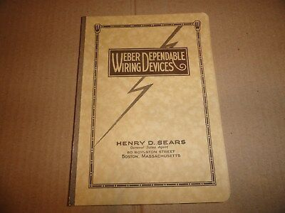 RARE 1926 Weber Wiring Material Catalog Socket Porcelain Switch Plugs Lamp Light