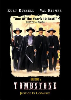 Tombstone Justice is Coming Kurt Russell Val Kilmer DVD FREE SHIPPING NEW