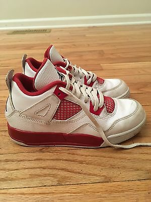 Air Jordan 2015 IV Retro Youth Red White Basketball Shoes Size 2Y