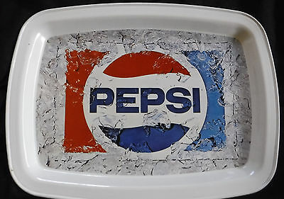 "Collectible  Pepsi Cola  Metal Serving Tray Rectangular 11"" x 14.5""  RED White"