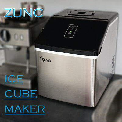 Auto Ice Cube Maker Fast Easy Benchtop Portable Freezer Machine Home HZB-13F/S