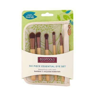 EcoTools Six Piece Essential Eye Set Makeup Brush Cosmetic Kit 1227