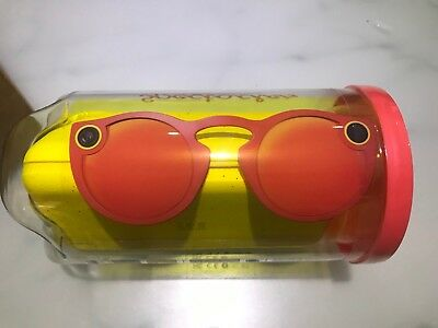 NEW UK Genuine Snapchat Glasses / Spectacles (IOS / Android) Bluetooth Red