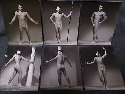 Vintage Gay Lot 6 SPARTAN Studios original stamped 4x5 Photos BEEFCAKE model