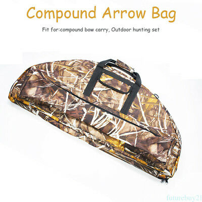 Compound Bow Bag Archery Arrow Carry Bag Case Outdoor Hunting Quiver Holder