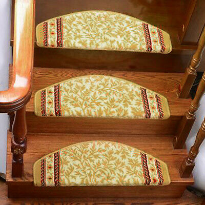 Home Stair Mat Vintage Self-adhesive Stair Treads Carpet Step Rug Protector 1PC