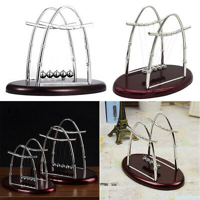 Oval Newton Cradle Balance Balls Science Pendulum Office Classic Desktop Toy Hot
