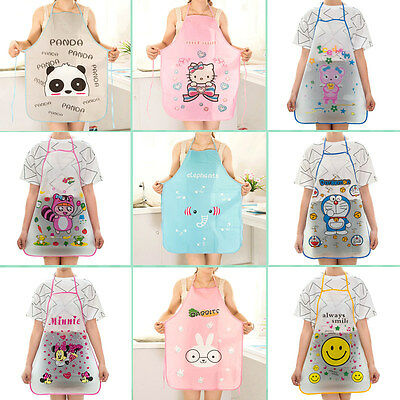 12 Pattern- Women Cute Cartoon Waterproof Apron Kitchen Restaurant Cooking Bib