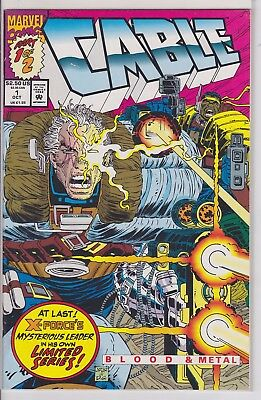 Marvel Comics Cable Blood & Metal 1 & 2 complete full run mini series lot X-men