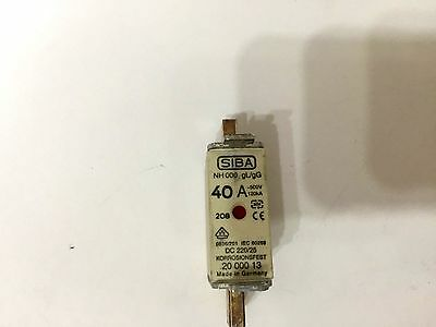 40A Siba Blade Fuses NH000 gL/gG Combination Indicator  as per pics