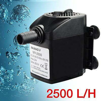 2500L/H Submersible Water Pump Aquarium Pond Pool Fish Tank Fountain Marines