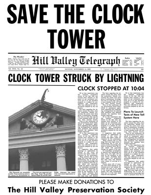 Back to the Future BTTF Save the Clock Tower Flyer Poster