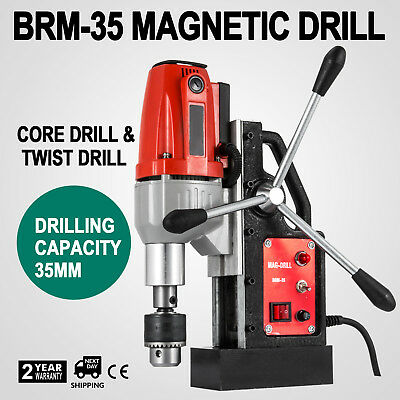 BRM35 Magnetic Drilling Machine Mag Drill 35mm 1200W Pinion Guide 170mm Distance