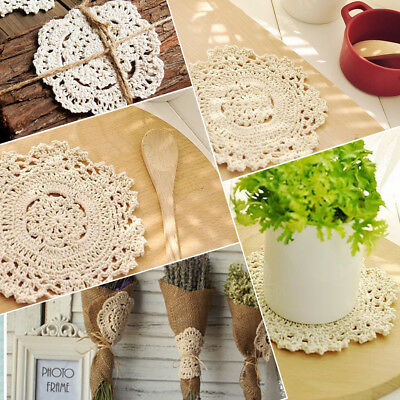 Cotton Retro Photography Props Beautiful White Lace Hand Knitting Lace Embroider
