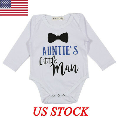 Infant Baby Girl Boy White Long Sleeves Romper Bodysuit Jumpsuit Outfits Clothes