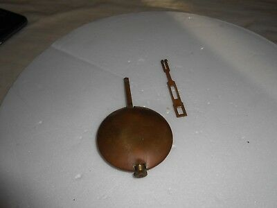 Vintage Brass Pendulum Bob For English / German Mantle Clock 86 Grammes.